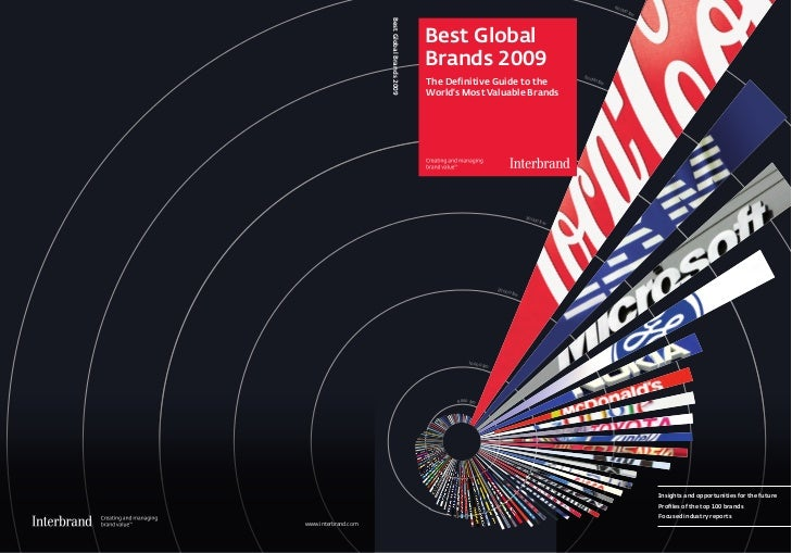 Best Global Brands 2009 by Interbrand and BusinessWeek