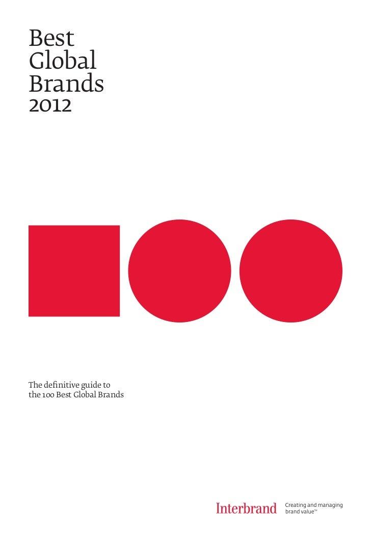 Best global brands 2012