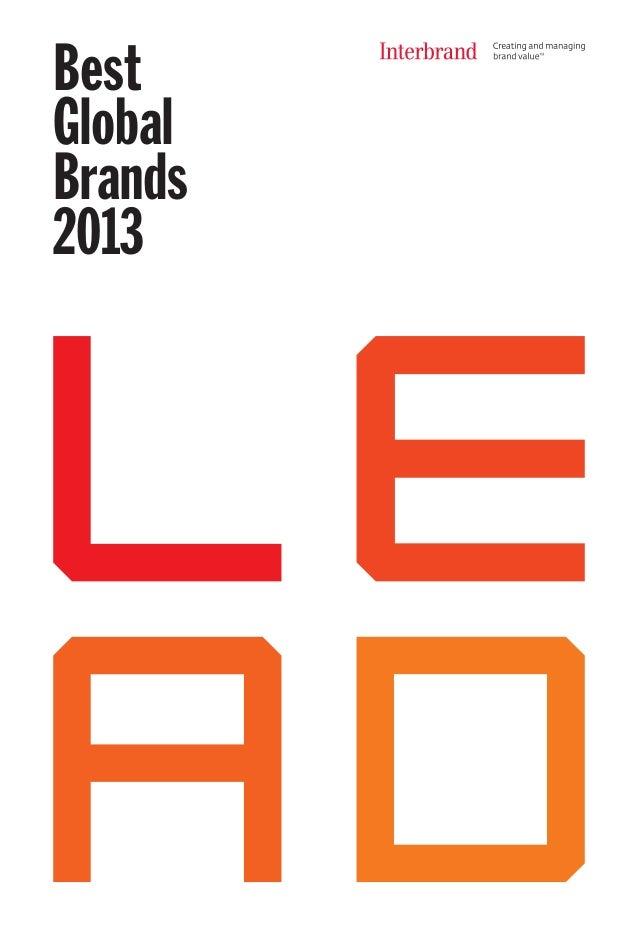 Best global brands 2013 by Interbrand