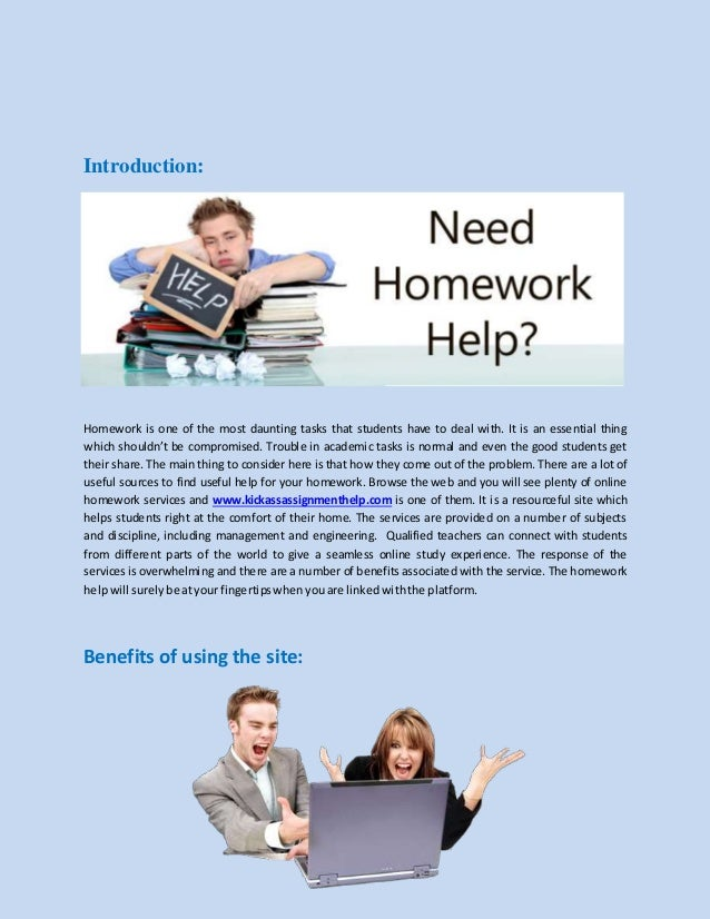 Homework Help by Subject:
