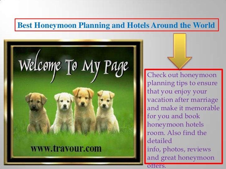 Best honeymoon planning and hotels around the world