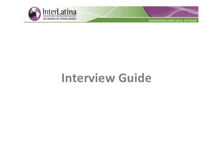 Best interview guide