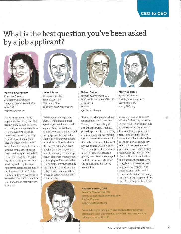 Best interview questions