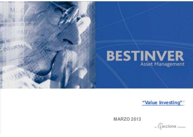 """Value Investing""""           MARZO 2013Página 1"