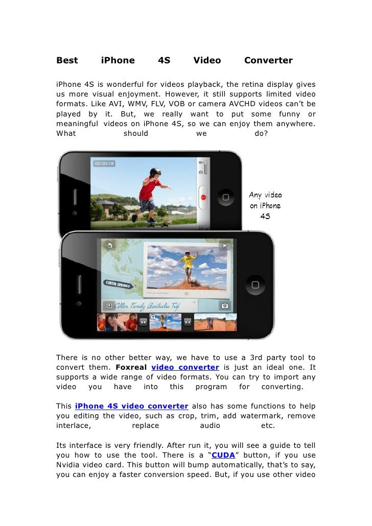 Best i phone 4s video converter