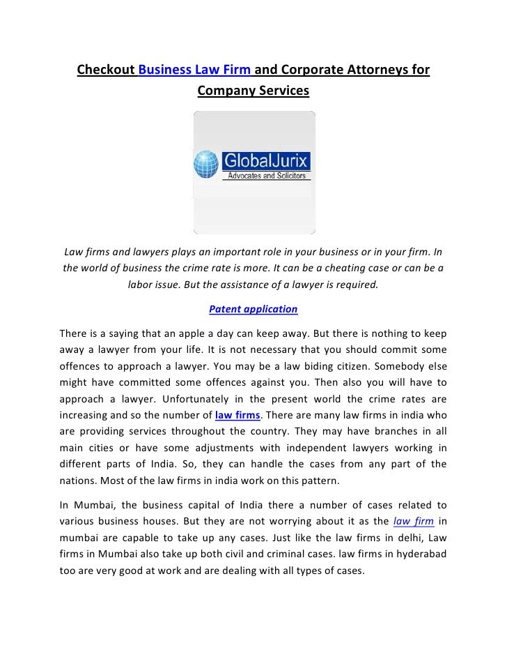 Checkout Business Law Firm and Corporate Attorneys for                     Company ServicesLaw firms and lawyers plays an ...