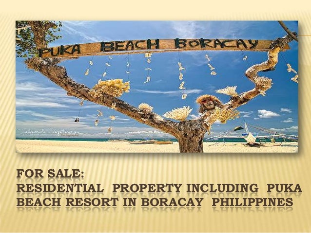 FOR SALE:RESIDENTIAL PROPERTY INCLUDING PUKABEACH RESORT IN BORACAY PHILIPPINES