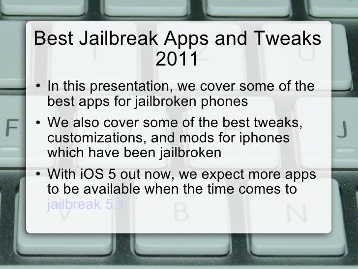 Best jailbreak apps 2011