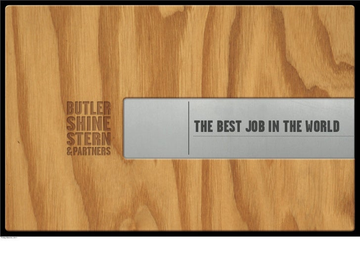 The Best Job in the World
