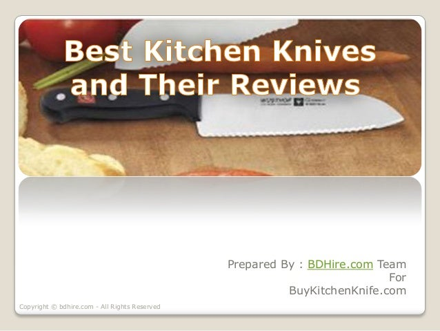 best kitchen knives and their reviews