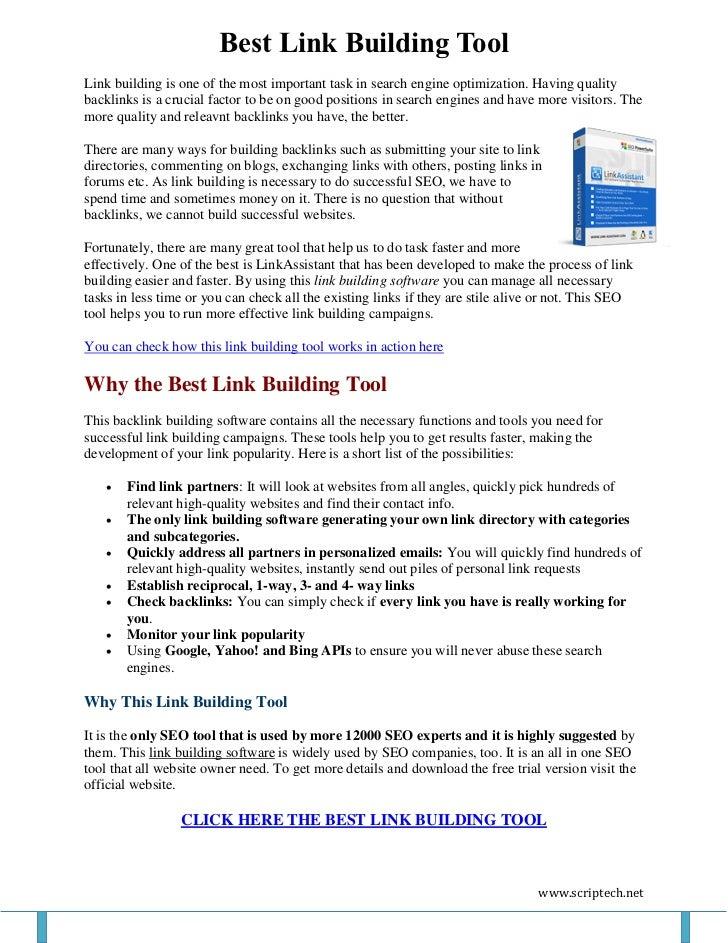 Best Link Building Tool