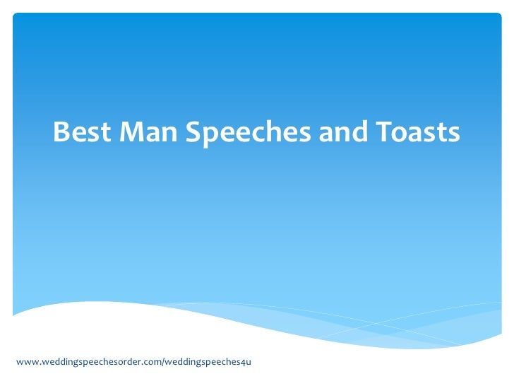 Best man toast