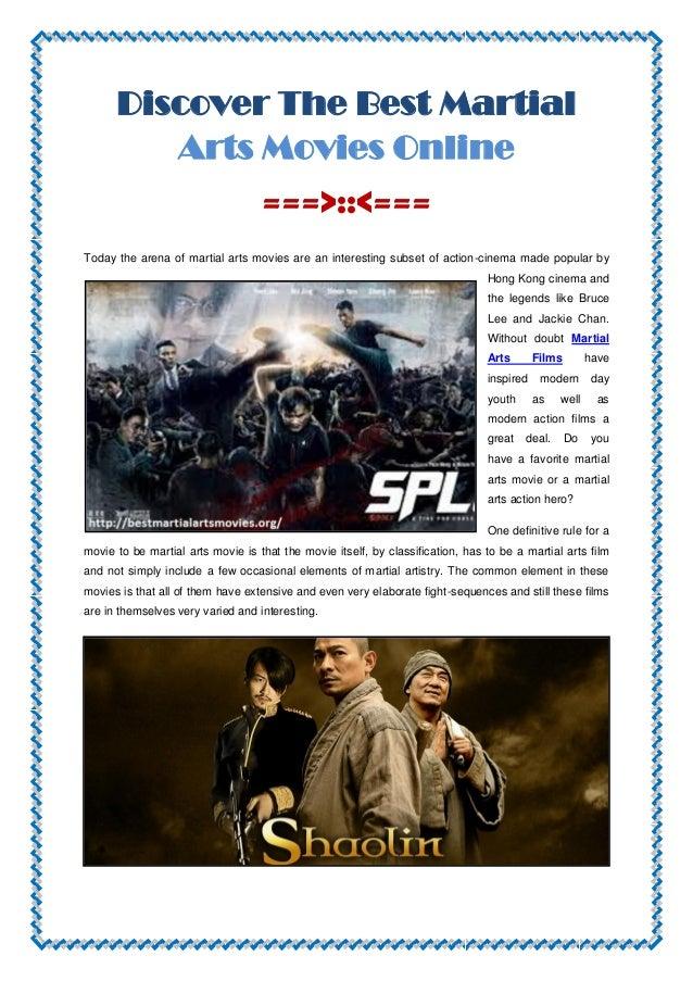 best martial arts movies online