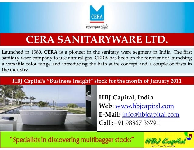 NEW Decade, FRESH Take In sync with growing trend in Indian sport           CERA SANITARYWARE LTD.Launched in 1980, CERA i...
