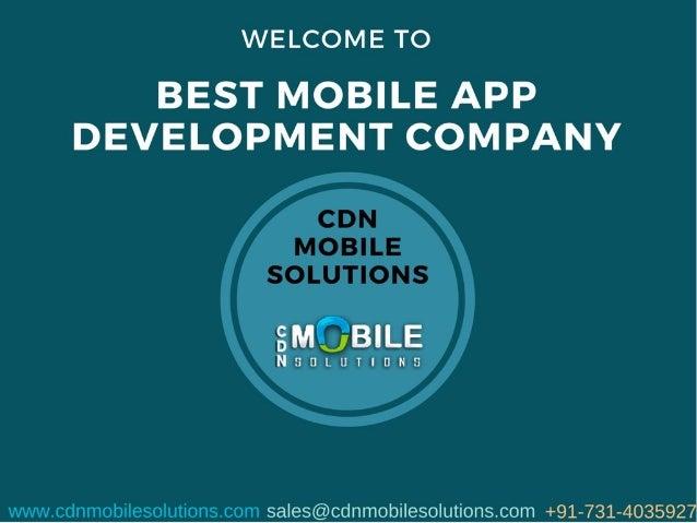 Best Mobile App Development Company | CDN Mobile Solutions