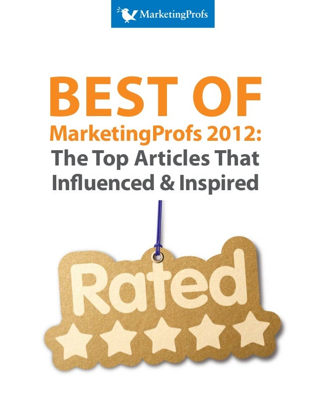 Best of 2012 MarketingProfs Articles