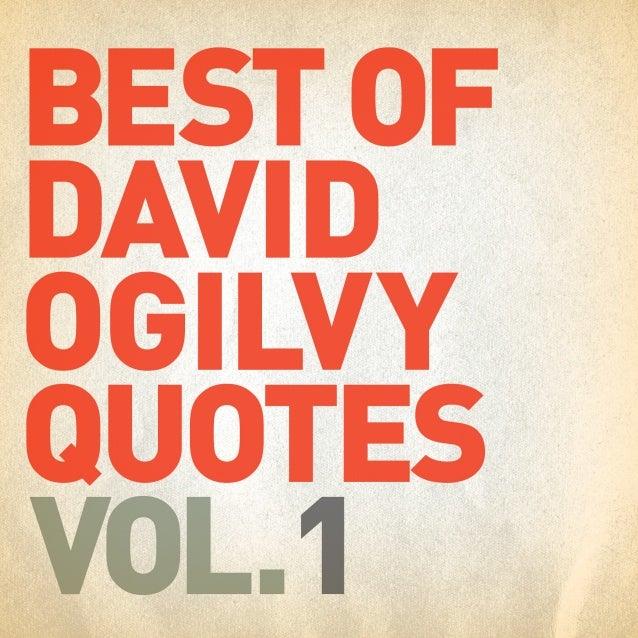 Best of David Ogilvy Quotes Vol. 1 / #Ogilvyism