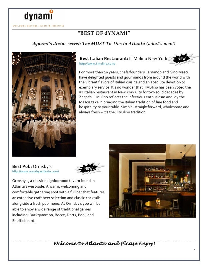 """""""BEST OF dYNAMI""""             dynami's divine secret: The MUST To-Dos in Atlanta (what's new!)                             ..."""