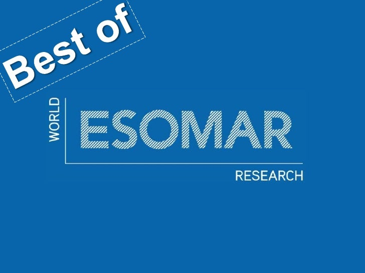 Best of esomar Belgium 2010