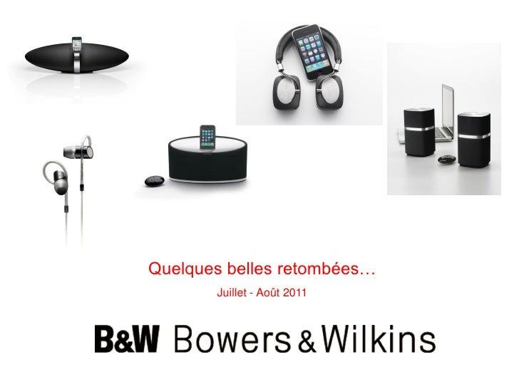 Best of mensuel   bowers & wilkins - été 2011