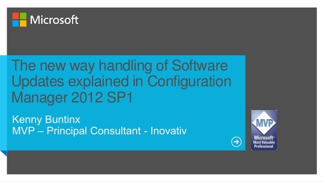 The new way handling of SoftwareUpdates explained in ConfigurationManager 2012 SP1