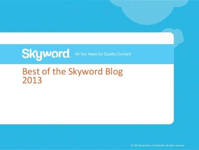 Best of the Skyword Blog