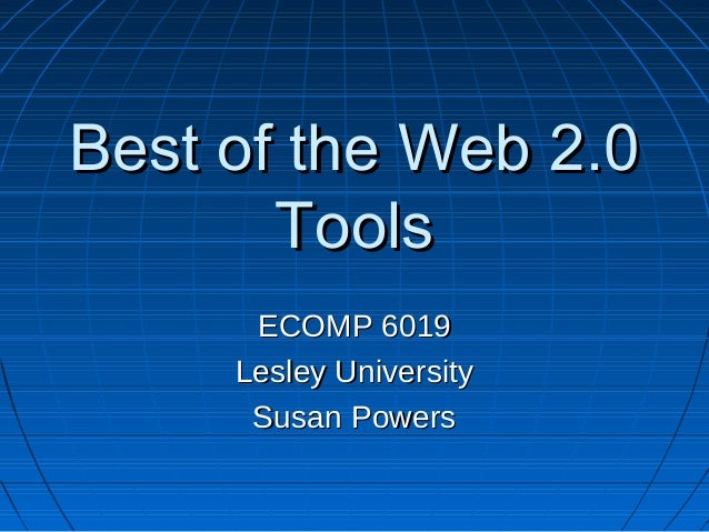 Best of the web 2.0 powerpoint