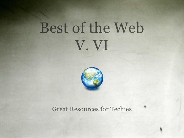 Best of the Web V. VI