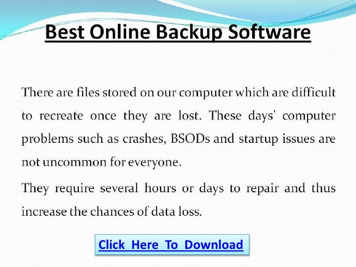 Best Online Backup Software
