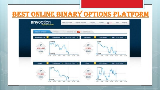 Best binary option platforms