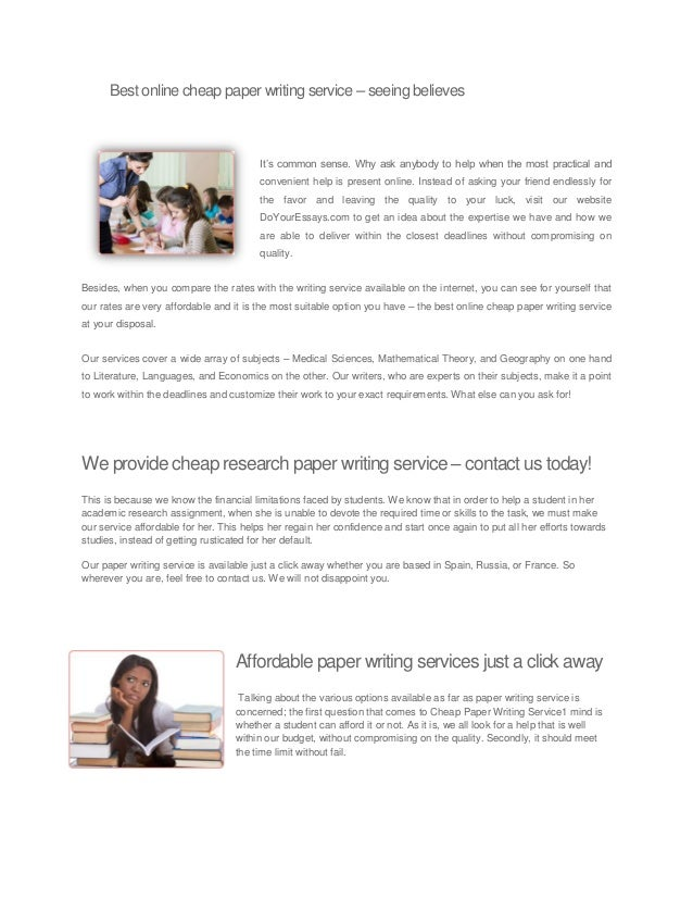 Cheap Essay-Writing Service UK