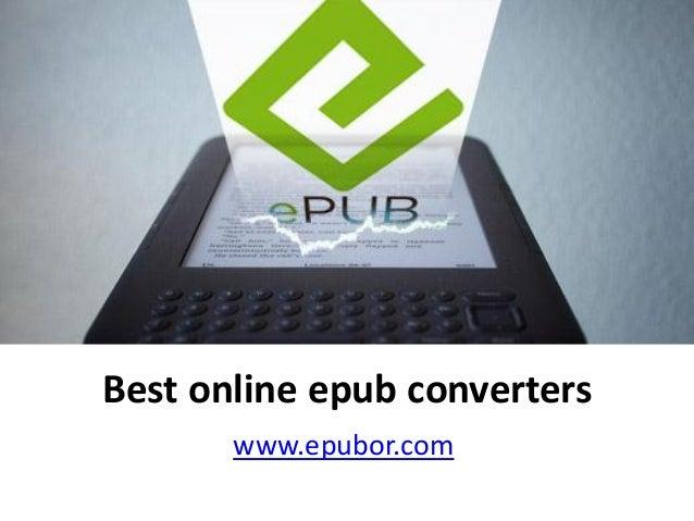 Best online epub converters
