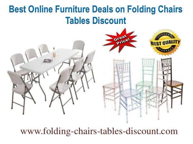 Best online furniture deals on folding chairs tables discount for Best place for furniture deals