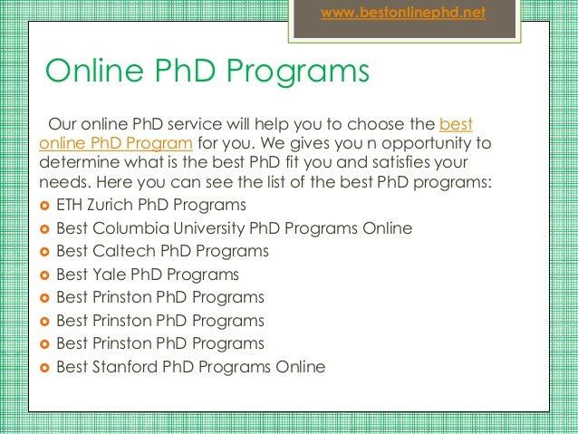 Online ph.d