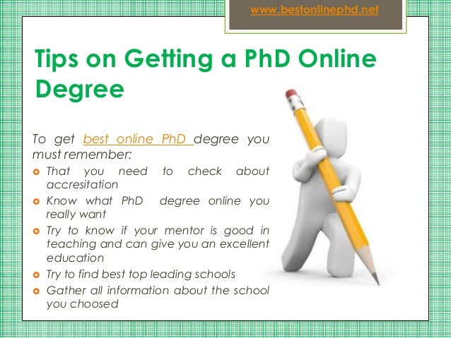 Phd online degree