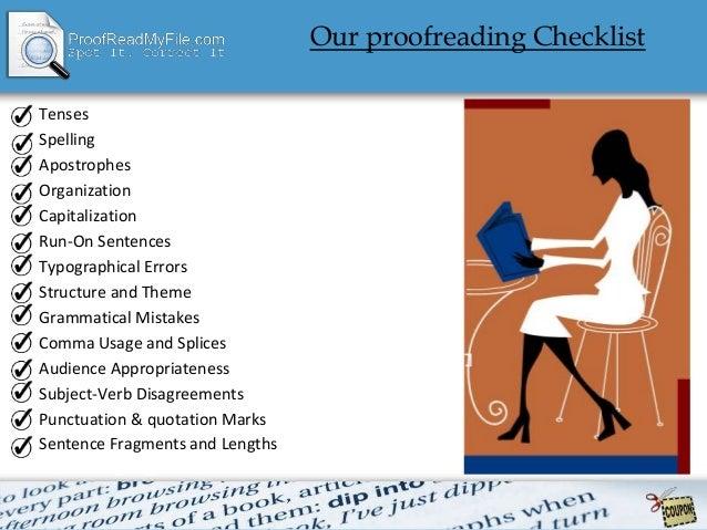 Online proof read