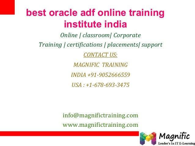 Best oracle adf online training institute india