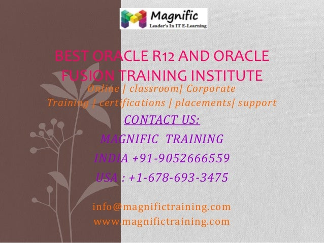 Best oracle r12 and oracle fusion training institute