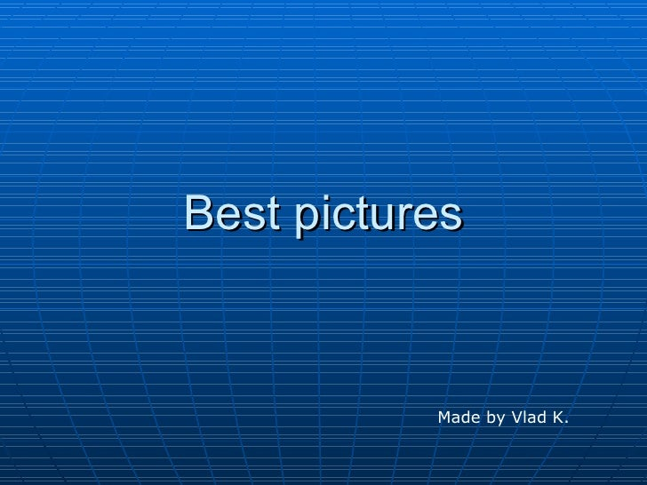 Best pictures 2008