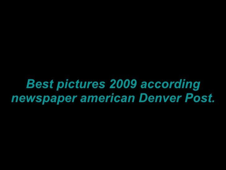 Best pictures 2009 according denver post