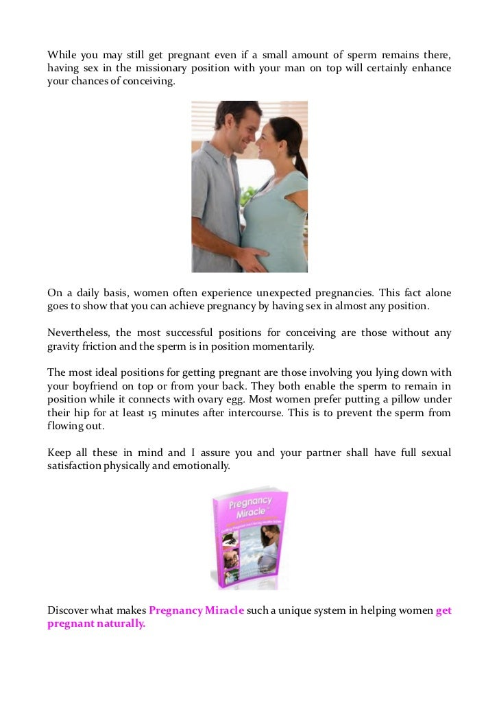 Woman best for pregnant sex position