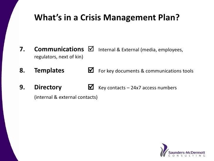 crisis communications plan readygov