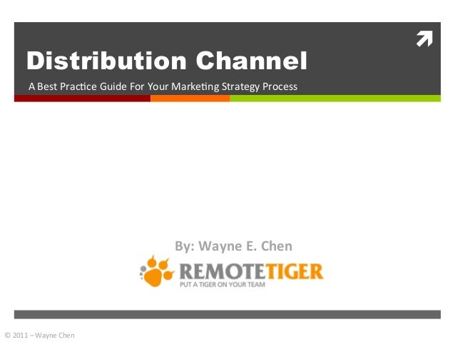 ì	            Distribution Channel           A	  Best	  Prac+ce	  Guide	  For	  Your	  Marke+ng	  Strategy	  Process	    ...