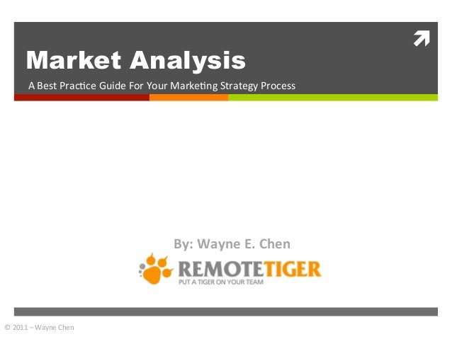 ì	            Market Analysis           A	  Best	  Prac+ce	  Guide	  For	  Your	  Marke+ng	  Strategy	  Process	         ...