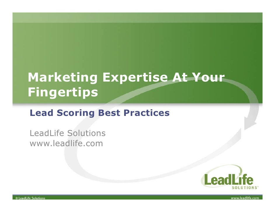 Best Practices: Lead Scoring