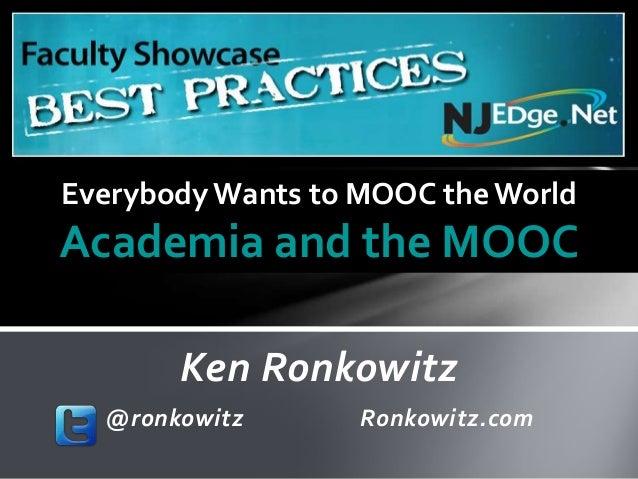Academia and the MOOC