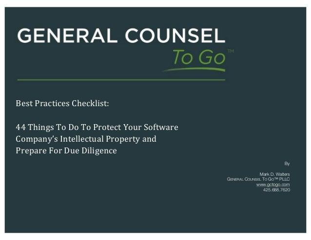 Intellectual Property License Agreement Checklist Clip
