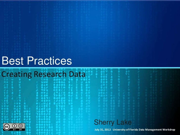 Best practices data collection
