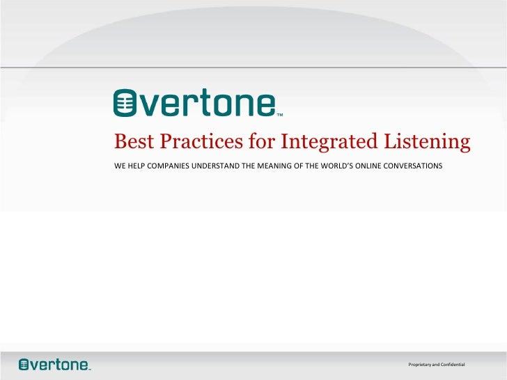 Best Practices For Integrated Listening