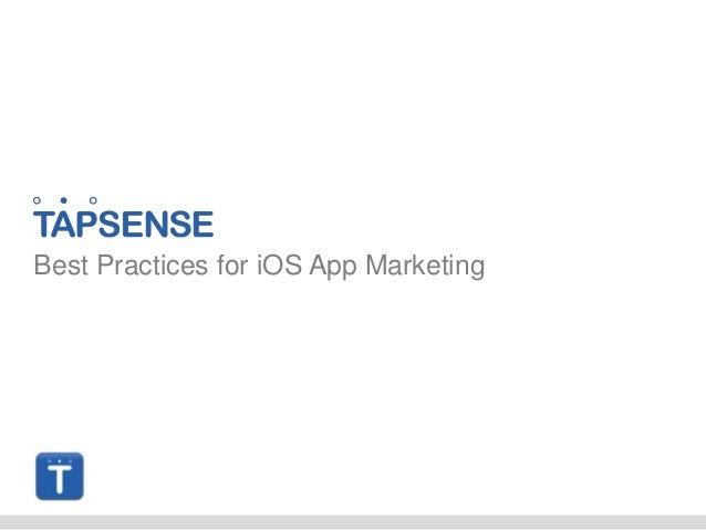 TapSense - Best practices for iOS app marketing